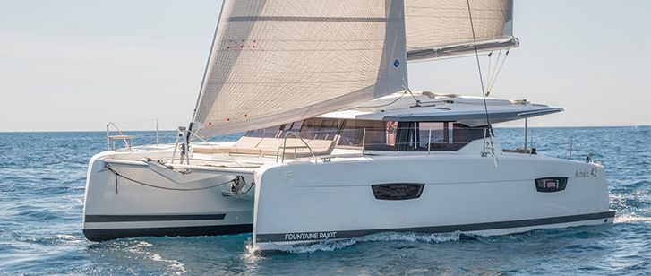 FP Astrea 42 Catamaran Charter Croatia Split Trogir Sibenik Featured
