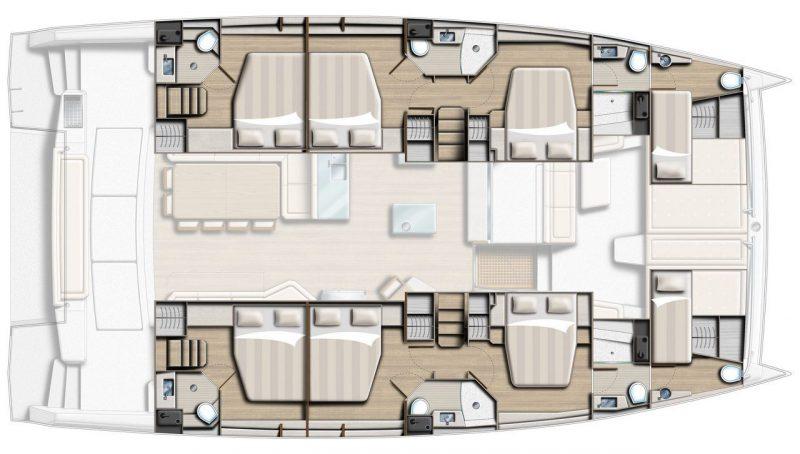 Bali 5 4 Catamaran Layout